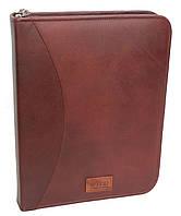 Кожаная деловая папка для документов Always Wild NZ-722 коричневая (бордовая) 36х28х4.5 см.