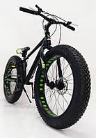 Горный велосипед фэтбайк S800 HAMMER EXTRIME Черно зеленый 24 дюйма