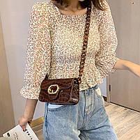 Модная женская сумка через плечо с акриловой цепочкой - Коричневая, фото 4