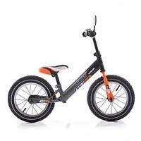 Детский беговел balance bike air crosser 16 дюймов серый