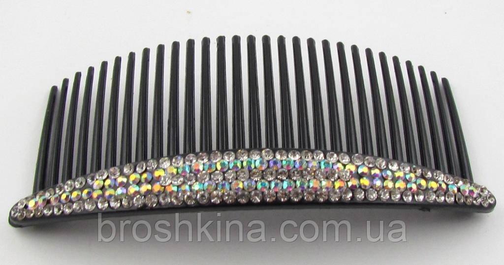 Гребень для волос пластик со стразами-хамелеон L 10 см