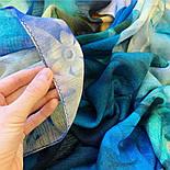Палантин шерстяной 10718-12, павлопосадский шарф-палантин шерстяной (разреженная шерсть) с осыпкой, фото 6