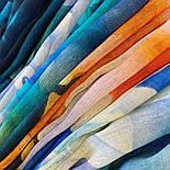 Палантин шерстяной 10718-12, павлопосадский шарф-палантин шерстяной (разреженная шерсть) с осыпкой, фото 7