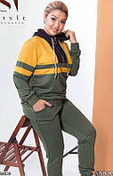 Спортивный костюм женский весна-осень турецкая двунить 48-54 р.,цвет хаки