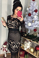 Женское стильное черное  платье Класса  Люкс