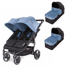 Универсальная коляска для двойни Baby Monsters Easy Twin 3S Light