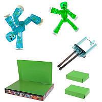 🔝 Конструктор-студия для создания мультфильмов StikBot (СтикБот) с зелёным и голубым человечками   🎁%🚚, фото 1