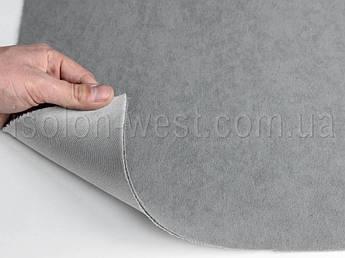 Ткань потолочная 7П серая, автовелюр на поролоне с сеткой шир. 1.60м