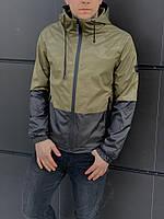 Ветровка куртка мужская весенняя осенняя стильная качественная двухцветная камуфляж-черная Intruder Anti-wind