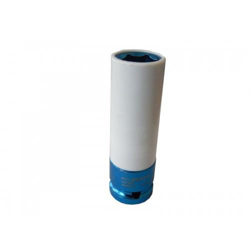 """Головка глубокая для литых дисков с защитным кожухом 19мм, 1/2"""", на пластиковом держателе"""