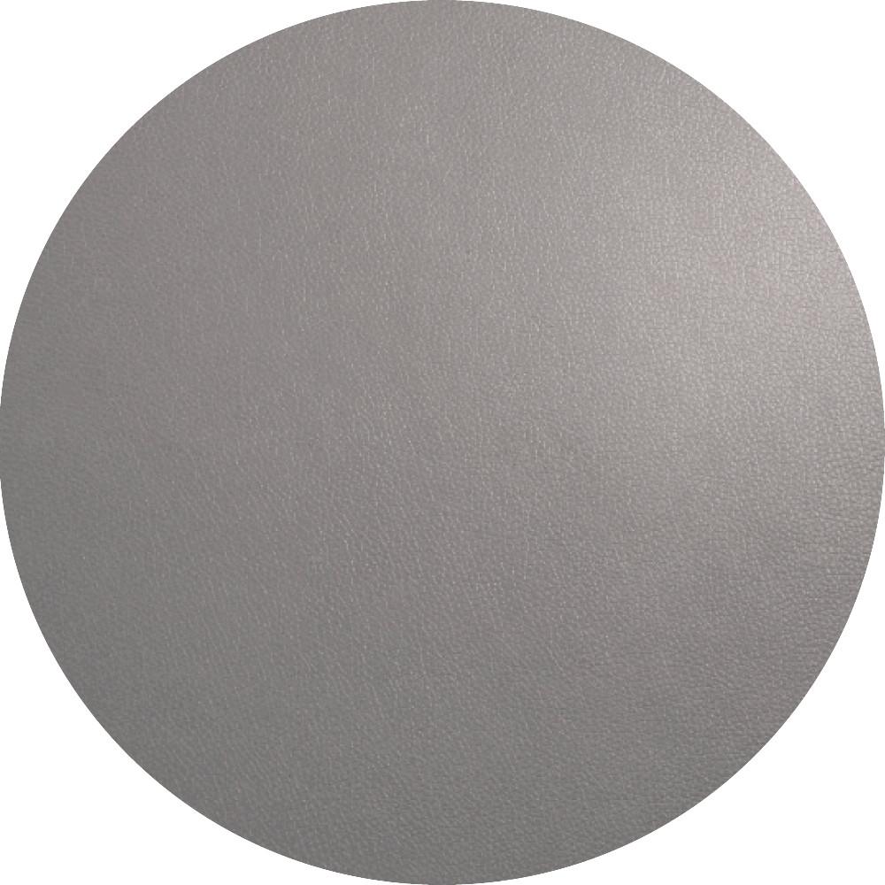 Подкладка под тарелку сервировочная Asa круг 38 см серая кожа 7857420