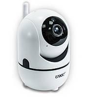 🔝 Поворотная WiFi IP камера видеонаблюдения для дома и квартиры UKC CAD Y13G Вай Фай видеонаблюдение   🎁%🚚
