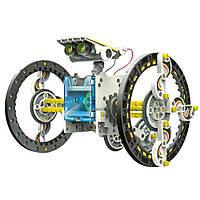 🔝 Обучающий детский робот конструктор на солнечной батарее 14 в 1   Solar Robot 14 in 1   с доставкой   🎁%🚚