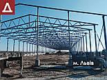 От 600грн/кв.м Изготовление ангаров 12х42х3 под Заказ из нового материала. Ангар, склад, цех, сто, навес., фото 8