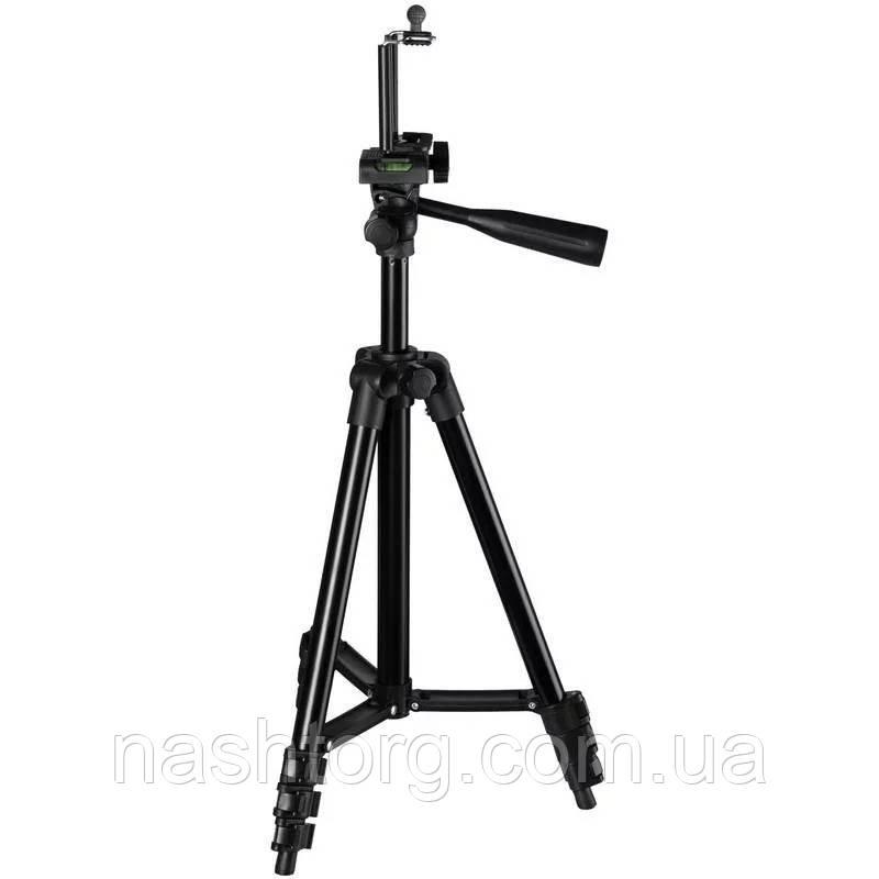 🔝 Штатив для фотоаппарата + крепление для телефона, Tripod 3120 Black, тренога держатель для камеры | 🎁%🚚