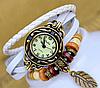 🔝 Женские часы, наручные, с браслетом, в винтажном стиле, цвет - белый   🎁%🚚