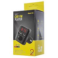FM модулятор фм трансмиттер bluetooth в машину с Usb G16 черный 154728