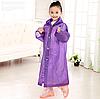 Детский дождевик, цвет - фиолетовый, плащ дождевик, EVA (NV)