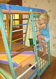 Детский спортивно игровой комплекс Малыш плюс (с деревянной горкой) для дома, фото 3