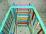 Детский спортивно игровой комплекс Малыш плюс (с деревянной горкой) для дома, фото 6