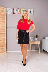 Женская короткая юбка Клер черная