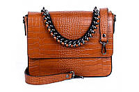 Итальянская женская сумка из натуральной кожи. Цвет: Коричневый, фото 1