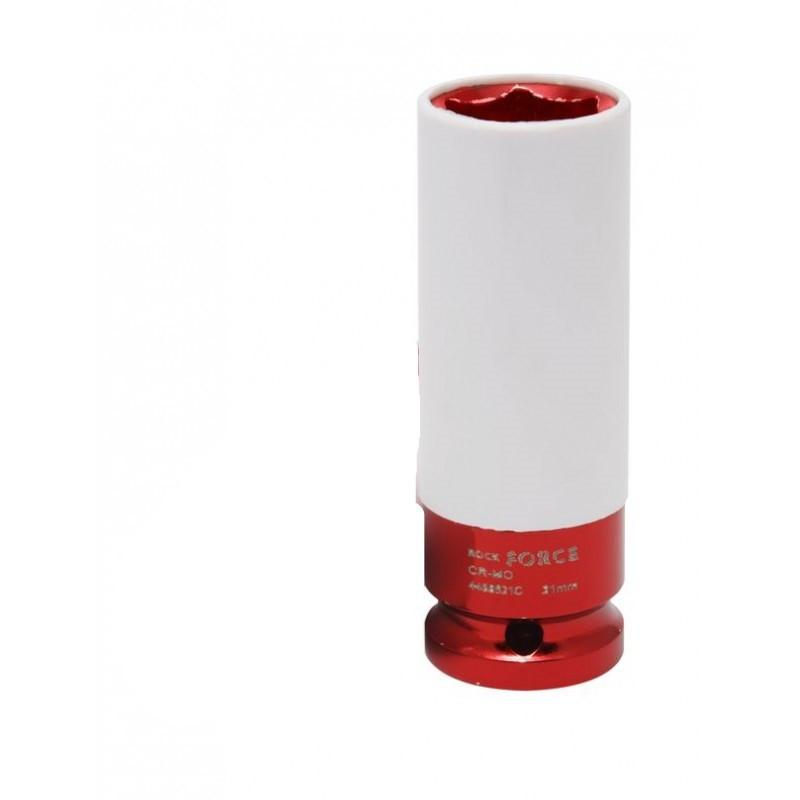 """Головка глубокая для литых дисков с защитным кожухом 21мм, 1/2"""", на пластиковом держателе"""