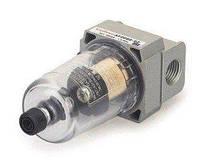 """Фильтр для пневмосистемы мини 1/4"""" + резьбовой адаптер 1/4Mx1/8F"""