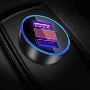 Автомобильное зарядное устройство с быстрой зарядкой 3.1A USLION 2x USB, фото 2