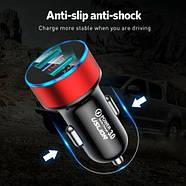 Автомобильное зарядное устройство с быстрой зарядкой 3.1A USLION 2x USB, фото 3