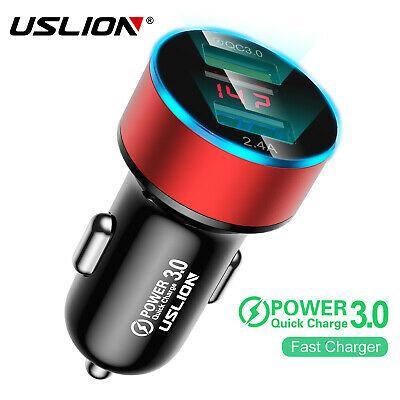 Автомобильное зарядное устройство с быстрой зарядкой 3.1A USLION 2x USB