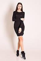 Сукня жіноча чорна із вирізом у формі краплі на спині