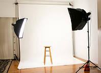 Фон 1,6x3,5 м белый матовый студийный виниловый
