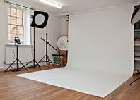 Фон 1,6x4,5 м белый матовый студийный виниловый