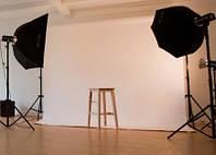 Фон 2,5x5 м белый матовый студийный виниловый