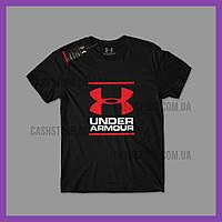 Футболка Under Armour 'GL Foundation Logo' с биркой | Андер Армор | Черная