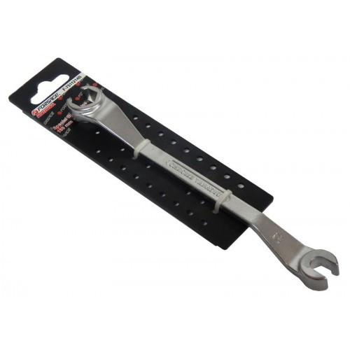 Ключ разрезной для тормозных трубок с изгибом 45° 10x11мм, на пластиковом держателе