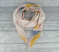 Итальянский шарф Girandola 0001-124 пудра, абстракция, коттон 80%, шелк 20%, фото 1
