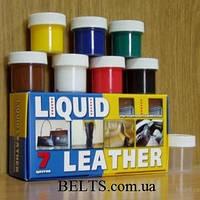 Краска для кожи Жидкая Кожа ( 7 шт.), набор для ремонта кожных вещей Liquid Leather (Ликвид Лизер)