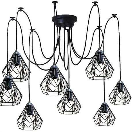 Люстра паук на восемь плафонов NL 538-8  MSK Electric, фото 2