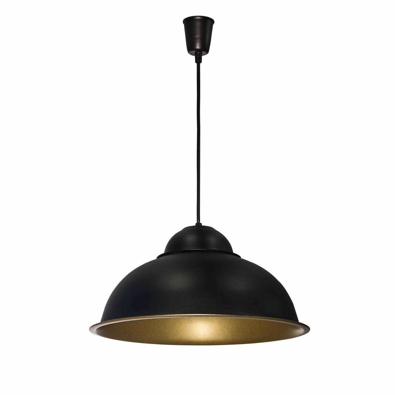 Светильник подвесной в стиле лофт  Купол   СП 3614 BK+GD MSK Electric