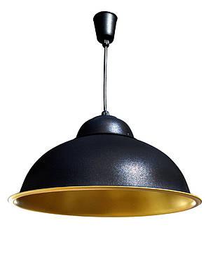 Светильник подвесной в стиле лофт  Купол   СП 3614 BK+GD MSK Electric, фото 2
