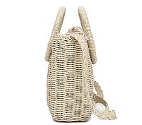 Модная женская сумка через плечо - плетеная Беж, фото 3