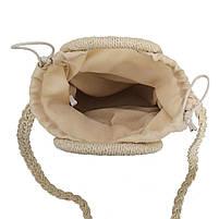 Модная женская сумка через плечо - маленькая плетеная, фото 3