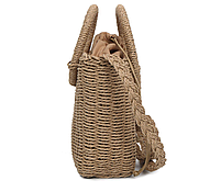 Модная женская сумка через плечо - маленькая плетеная, фото 2