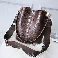Модна жіноча сумка - Коричнева, фото 2