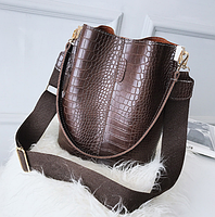 Модная женская сумка - Коричневая, фото 2