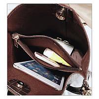 Модна жіноча сумка - Коричнева, фото 3