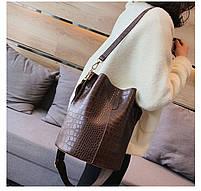 Модна жіноча сумка - Коричнева, фото 4