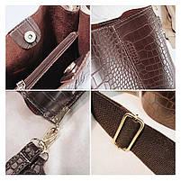 Модна жіноча сумка - Коричнева, фото 5
